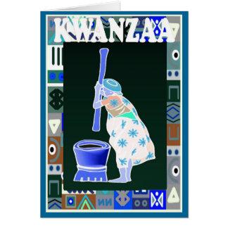 Kwanzaa, den Mais zerstoßend Karte