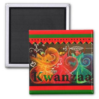 Kwanzaa - Entwürfe Quadratischer Magnet