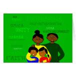 Kwanzaa-Familien-Karte Grußkarte
