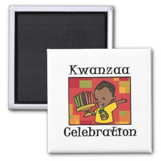 Kwanzaa-Feierjunge Magnete