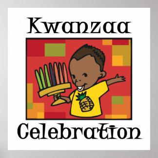 Kwanzaa-Feierjunge Poster