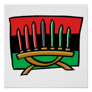 Kwanzaa-Flagge Plakatdruck