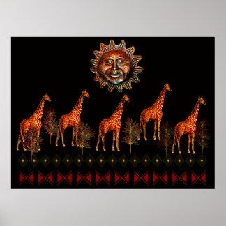 Kwanzaa-Giraffen Poster