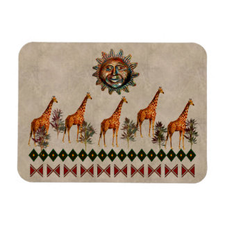 Kwanzaa-Giraffen Rechteckige Magnete