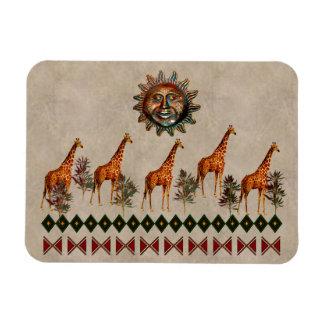 Kwanzaa-Giraffen Vinyl Magnet