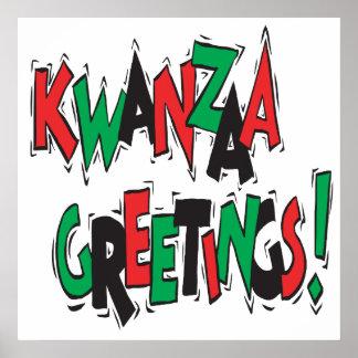 Kwanzaa-Grüße Plakatdrucke