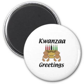 Kwanzaa-Grüße Runder Magnet 5,1 Cm