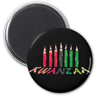 Kwanzaa-Kerzen Kühlschrankmagnet