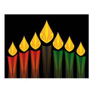 Kwanzaa-Kerzen Postkarte