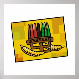 Kwanzaa Kinara mit Mais Posterdrucke