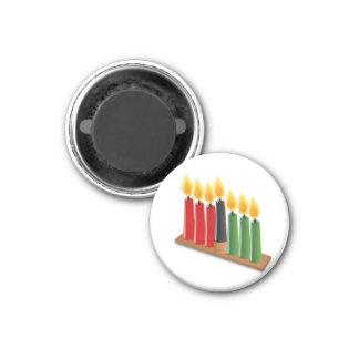 Kwanzaa-Kühlschrankmagnet Runder Magnet 2,5 Cm