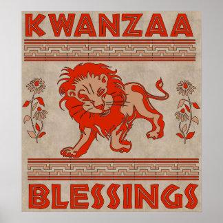 Kwanzaa-Löwe Poster