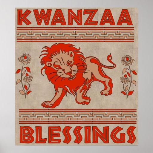 Kwanzaa-Löwe Plakat