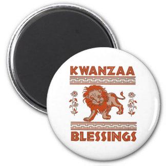 Kwanzaa-Löwe Runder Magnet 5,1 Cm