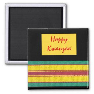 Kwanzaa-Magnet Quadratischer Magnet