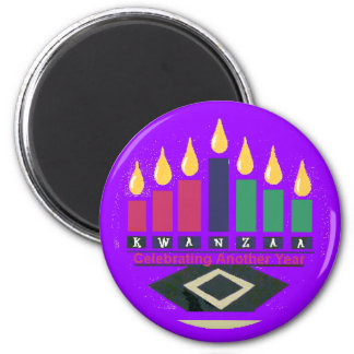 KWANZAA-Magnet Runder Magnet 5,7 Cm