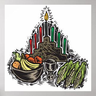 Kwanzaa-Nahrung Plakatdruck