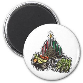 Kwanzaa-Nahrung Runder Magnet 5,7 Cm