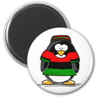 Kwanzaa-Pinguin Runder Magnet 5,1 Cm