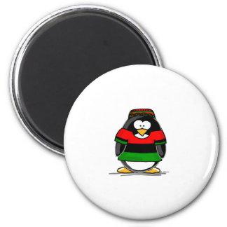 Kwanzaa-Pinguin Runder Magnet 5,7 Cm