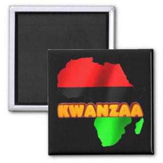 Kwanzaa Quadratischer Magnet