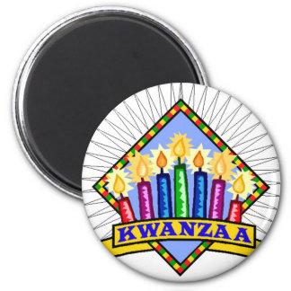 Kwanzaa Runder Magnet 5,7 Cm