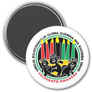 Kwanzaa Runder Magnet 7,6 Cm