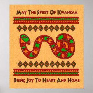 Kwanzaa-Schlange Plakate