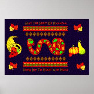 Kwanzaa-Schlange Posterdrucke