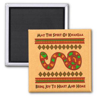 Kwanzaa-Schlange Quadratischer Magnet