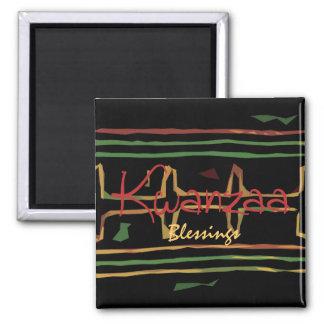 Kwanzaa-Segen-Kühlschrankmagnet Quadratischer Magnet