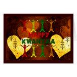 Kwanzaa-Tänzer Grußkarte