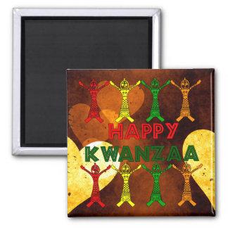 Kwanzaa-Tänzer Quadratischer Magnet