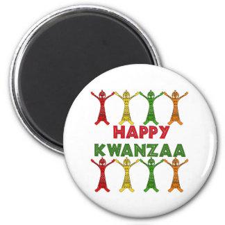 Kwanzaa-Tänzer Runder Magnet 5,7 Cm