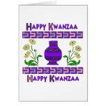 Kwanzaa-Vase Grußkarte