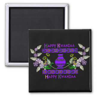 Kwanzaa-Vase Magnets