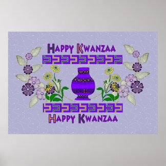 Kwanzaa-Vase Plakate