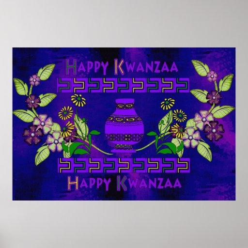 Kwanzaa-Vase Poster