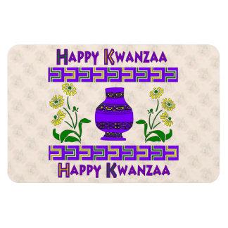 Kwanzaa-Vase Magnet