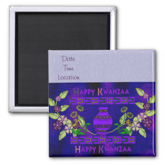 Kwanzaa-Vase Quadratischer Magnet