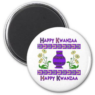 Kwanzaa-Vase Runder Magnet 5,1 Cm