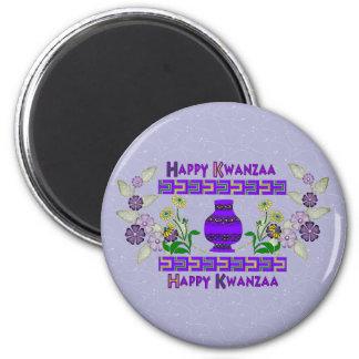 Kwanzaa-Vase Runder Magnet 5,7 Cm