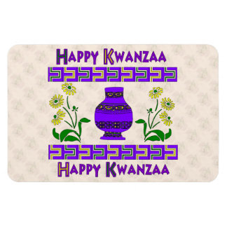 Kwanzaa-Vase Vinyl Magnete