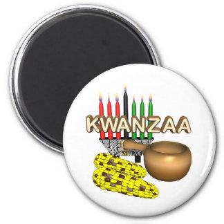 Kwanzaa-Zweck-Feiertag Runder Magnet 5,7 Cm