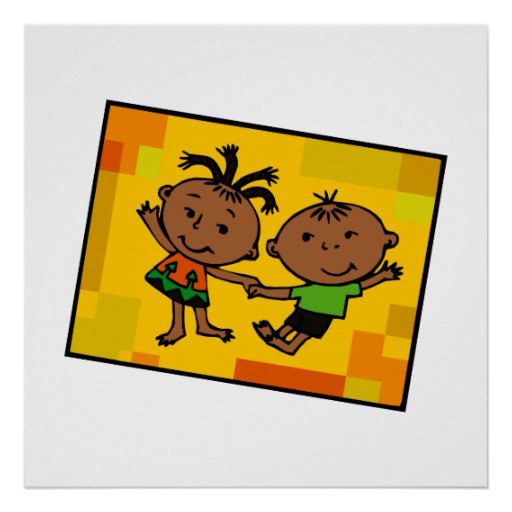 Kwanzaa-Zwillinge Posterdruck