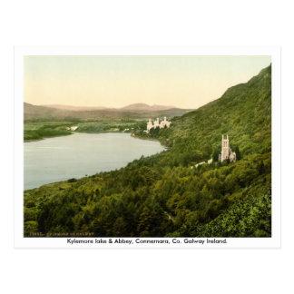 Kylemore See u. Abtei, Connemara, Galway Irland Postkarte
