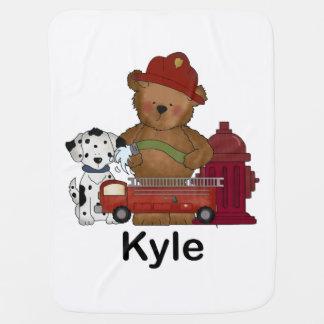 Kyles wenige Feuer-Bärn-personalisierte Geschenke Kinderwagendecke