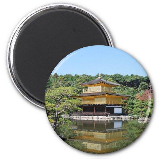 Kyoto Golden Pavilion Runder Magnet 5,7 Cm