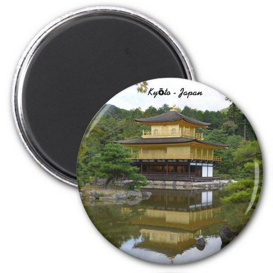 Kyōto Kyoto - Japan Goldener Pavillon Kinkaku-ji Runder Magnet 5,1 Cm