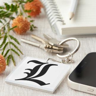 L Buchstabe Keychain Schlüsselanhänger